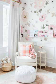 Blush pink and white little nursery
