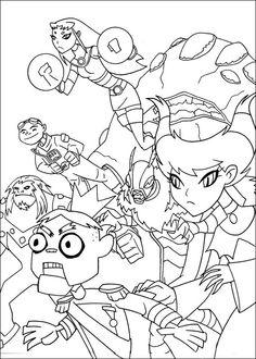 Desenhos para colorir Os Jovens Titãs 17