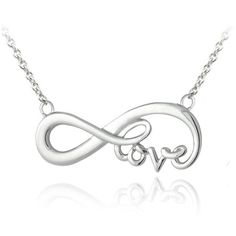 Mondevio Sterling Silver Infinity Love Necklace (1,115 INR) ❤ liked on Polyvore featuring jewelry, necklaces, silver, long pendant necklace, sterling silver infinity pendant, sterling silver pendants, sterling silver jewelry and infinity pendant