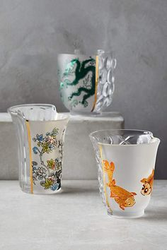 Unlikely Symmetry Juice Glasses - anthropologie.com