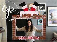 Christmas photo booth frame | Santa photo booth prop | Holidays photo prop | Santa selfie frame