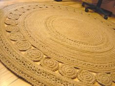 Large Jute Crochet Rug Exclusive handmade braided di GreatHome