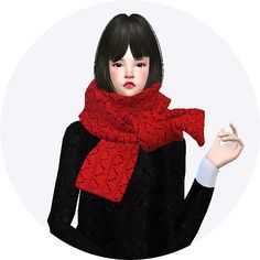Sims 4 CC's - The Best: Scarves for Males & Females by Sims 4 Marigold