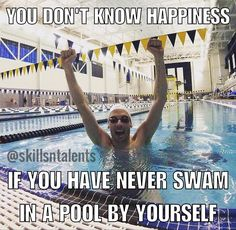 This is the best feeling, just you and the water. I'm lucky I get to experienc… This is the best feeling, just you and the water. I'm lucky I get to experience this every day before and after work Swimming Rules, Swimming Funny, I Love Swimming, Swimming Diving, Swimming Tips, Olympic Swimming, Scuba Diving, Swimmer Quotes, Swimming Motivation