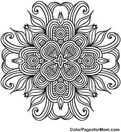 """Mandala Coloring Page 41   free sample   Join fb grown-up coloring group: """"I Like to Color! How 'Bout You?"""" https://m.facebook.com/groups/1639475759652439/?ref=ts&fref=ts"""