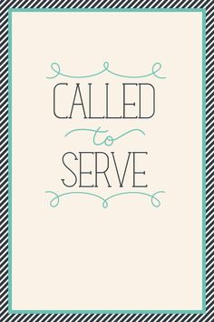 Called To Serve Print by kensiekate on Etsy