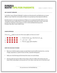 All of the eureka math sprints k 12 in one document organized this series of grade level eureka math parent tip sheets provides parents with a general fandeluxe Choice Image