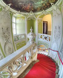 """Rococo ♦ less commonly roccoco, or """"Late Baroque"""", is an early to late French 18th-century artistic movement and style, affecting many aspects of the arts including painting, sculpture, architecture, interior design, decoration, literature, music, and theatre."""