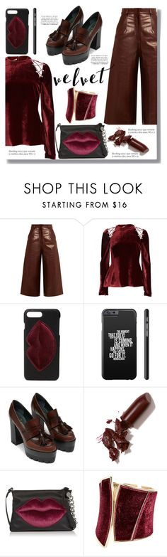 """Velvet"" by drigomes ❤ liked on Polyvore featuring BY. Bonnie Young, Antonio Berardi, Kendall + Kylie, LAQA & Co., GUESS by Marciano and Franke"