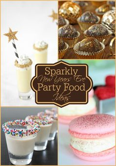 Sparkly #Party Food Ideas | Perfect for all those #newyearseve parties to attend this season. #recipes | www.dreamingofleaving.com