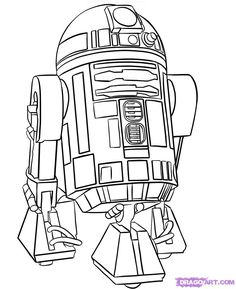 """Step Learn How To Draw FREE Step-by-Step Online Drawing Tutorials, Star Wars Characters, Draw Star Wars, Sci-fi free step-by-step drawing tutorial will teach you in easy-to-draw-steps how to draw """"How To Draw online. Star Wars Tattoo, R2d2 Tattoo, Rey Star Wars, Chewbacca, Star Wars Walker, Citations Star Wars, Star Wars Desenho, Star Wars Weihnachten, Star Wars Art"""