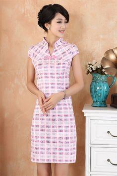 Short-sleeved Chinese dress