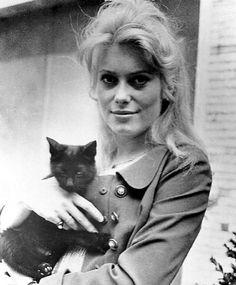 Catherine Deneuve - Ahhh, the great ones love cats!