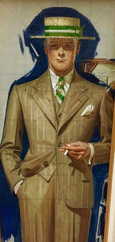 'Study for Double Page Kuppenheimer Ad' by Joseph Christian Leyendecker…