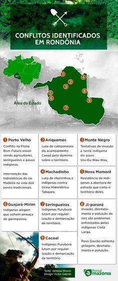 Conflitos identificados em Rondônia.