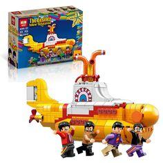 Lepin 21012 Technic The Beatles John Winston Lennon Paul McCartney Harrison Ringo Starr Yellow Submarine Building Blocks Toys