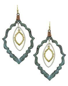 Tri-tone & Patina / Lead&nickel Compliant / Metal / Fish Hook / Dangle / Earring Set
