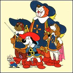 From left to right: Pip, Porthos, Dogtanian, Athos and Aramis.Dogtanian and the Three Muskehounds is a 1981 cartoon based on the novel The Three Musketeers by Alexandre Dumas. The cartoon was created by Spanish animation studio BRB Internacional … Vintage Cartoons, Classic Cartoons, 80s Kids, Kids Tv, Cartoon Gifs, Cartoon Characters, Desenhos Hanna Barbera, Old School Cartoons, Famous Cartoons
