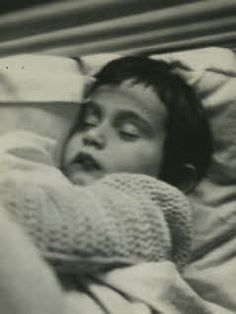 Anne Frank sleeping 1931 or 32. Breaks my heart to think her future could be so cruel, but out of such inhumanity came such a gift.