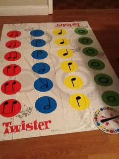 Music Rhythm Twister game-Could use this as an end of the year reward or incentive game!