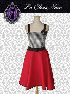 Vestido Margot PicNic c/rojo #pinup #pinupdress #picnic #casual  #faldaplato #escoterecto #vintage #retro #ropa #indumentaria #pinup  #vestido #vestidopinup #pinupdress #pinupstyle #pinupfashion #retrostyle