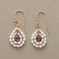 Rhodolite garnets with rice pearls