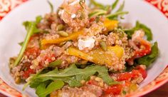 Roasted Tomato,Capsicum, Quinoa, Freekeh and Rocket Salad with a Coconut and Lemon Dressing - Good Chef Bad Chef