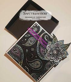 Colorista darks pad - Moroccan life Colorista metallic pencils  Gift box design by Sarah Kay #spectrumnoir #crafterscompanion #adultcoloring