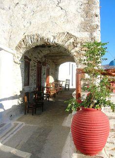 Little cafe in Amorgos , Greece