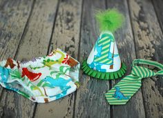 Little Dinosaur Cake Smash Outfit Little Guy Tie by FreshForHim