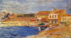 Pierre Auguste Renoir Houses By The Sea oil painting reproductions for sale