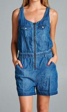 Looking for something very casual and chic? Our new romper with front zipper has arrived! #specialajeans #romper
