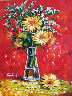 Flowers, Painting, Painting Art, Paintings, Royal Icing Flowers, Painted Canvas, Flower, Florals, Drawings