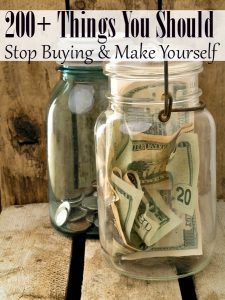 Over 200 Products to Stop Buying and Make - Ready to start saving big bucks? This HUGE list of things you can stop buying and start making is the PERFECT place to start!
