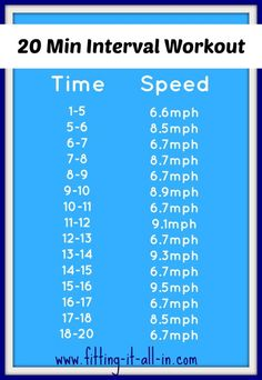 20 min interval workout