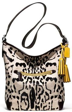 Coach handbag. Luv the yellow gold pop of color! Fashion bags | Buy Online Get Free Shipping | Emma Stine Limited.