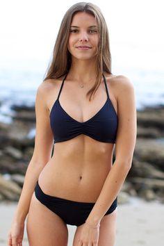 L*Space Swim - Strap Back Bikini Top / Black - $68