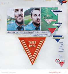 These days scrapbooking layout