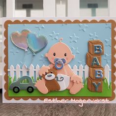 Cricut Cards, Marianne Design, Baby Cards, Stampin Up, Kids Rugs, Baby Shower, Frame, Card Ideas, Instagram