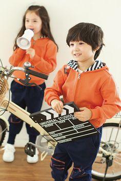 【Teamlalaオリジナル】親子スポーツウエア キッズパーカー風ジャージセット 通学・防寒性高い