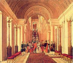 Napoleon and Eugenie at a reception at the Tuileries Palais Des Tuileries, Empire Design, Louvre Paris, Palace Interior, French History, Napoleon Iii, French Empire, Second Empire, Victorian Art