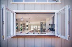 Sweet Chaos Home: Kitchen Pass Through Window Kitchen Pass, Kitchen Cabinets For Sale, Kitchen Sink, Kitchen Interior, Kitchen Design, Kitchen Garden Window, Kitchen Windows, Pass Through Window, Window Bars