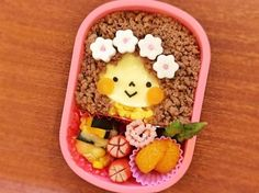 Girl of Kyaraben ♡ flowers ♡ minced lunch ♡