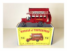 "MATCHBOX LESNEY 1911 ""B"" TYPE LONDON BUS - No. Y-2 - GOOD ITEM - W/BOX           - http://www.matchbox-lesney.com/37804"