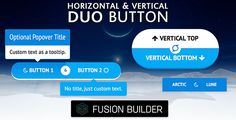 Horizontal & Vertical Duo Button Element for Avada v5 Fusion Builder