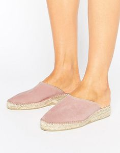 Suede Mule Espadrille Shoe by Park Lane. Shoes by Park Lane, Suede upper, Slip-on style, Wedge heel, Woven sole, Treat with a leather protector, 100% Real Leather Upper. #parklane #nudeshoes