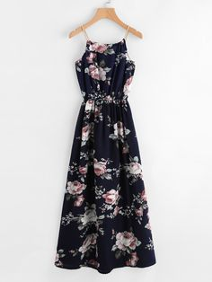 981b36d4bf0dd Shop All Over Florals Faux Pearl Detail Cami Dress online. ROMWE offers All  Over Florals Faux Pearl Detail Cami Dress   more to fit your fashionable  needs.