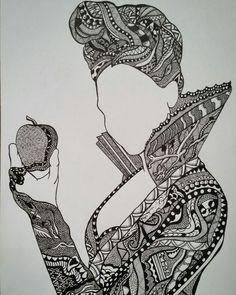 Zentangle Queen