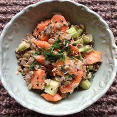 Lentil Tahini Salad with Dill