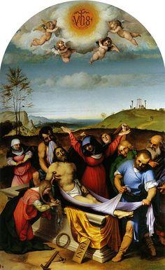 Lorenzo Lotto - Deposizione nel sepolcro - olio su tavola - 1509?1512? - Pinacoteca civica e galleria di arte contemporanea a Jesi. (Marche)